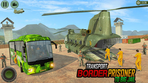 Offroad US Army Transport Prisoners Bus Driving  screenshots 3