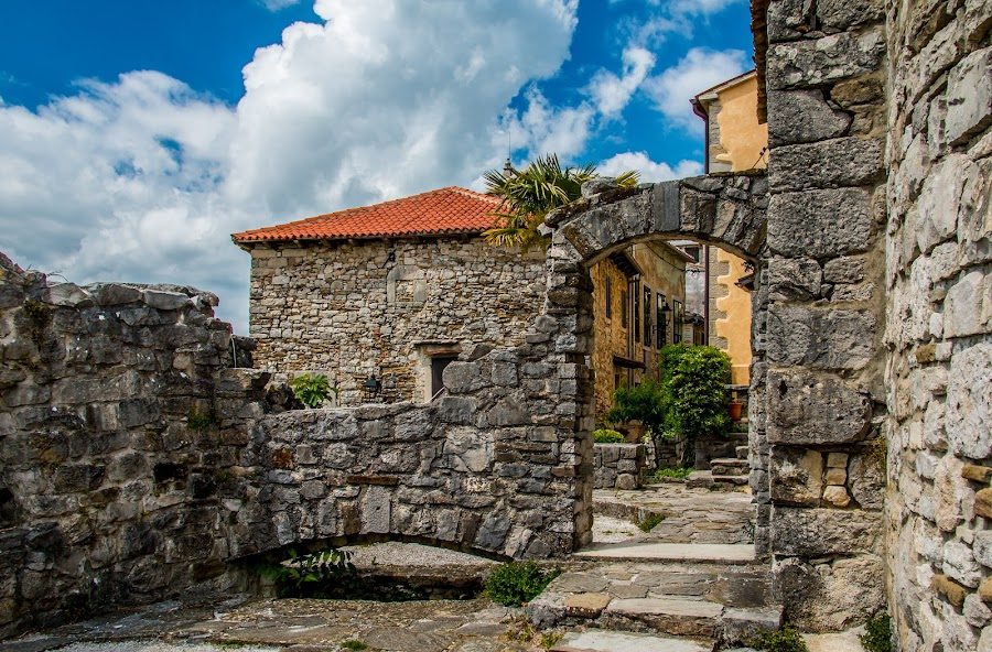 by Mario Horvat - Buildings & Architecture Public & Historical ( hum, old, vuildings, sky, croatia, stone, wall )