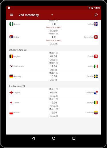 World Cup Russia 2018 - Live Scores & Schedule  screenshots 7