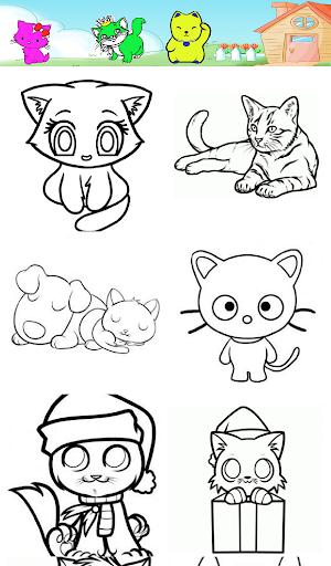 Super Cat Cartoon Coloring