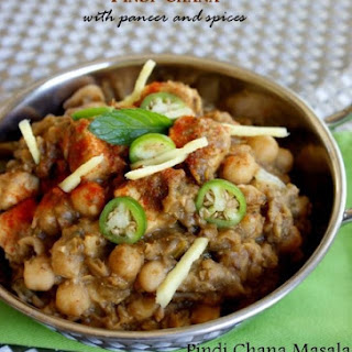Indian Paneer Pindi Chana (Chole) Masala Recipe