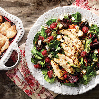 Grilled Chicken and Berry Salad with Cobblestone Berry Bake