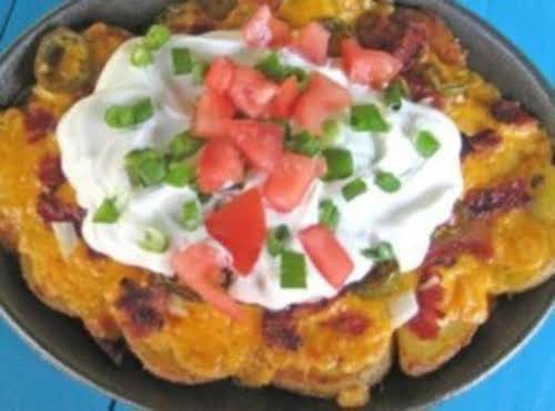 "Irish Nachos ""Just happened to have leftover corned beef and cabbage when..."