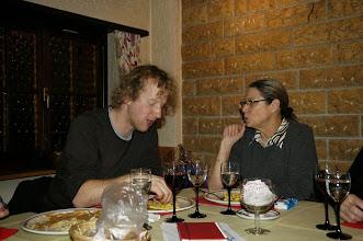 Photo: Simon und unsere Kassierin Charlotte Wullschleger