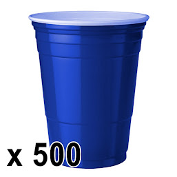 500 kpl. Blue Cups Mukeja (473 ml./16 Oz.)
