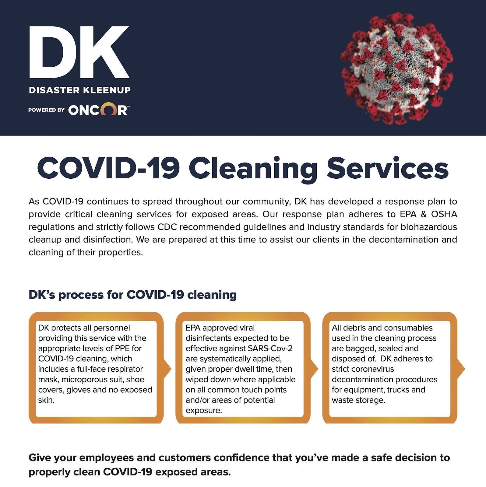 coronavirus cleaning company