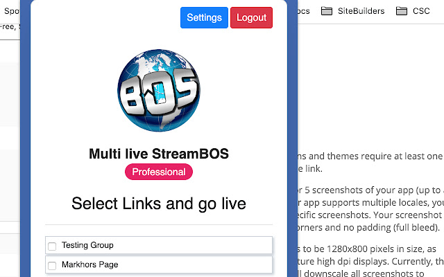 Multi live StreamBOS