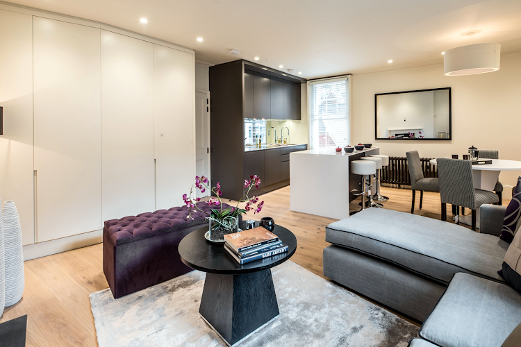 living space at Lower Belgrave Street Apartments