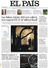 Photo: Las Bolsas inician 2013 con euforia tras superar EE UU el 'abismo fiscal', Madrid implanta el euro por receta en un claro desafío a Rajoy y la oposición a Chávez exige la verdad sobre su estado de salud, en nuestra portada del jueves 3 de enero http://srv00.epimg.net/pdf/elpais/1aPagina/2013/01/ep-20130103.pdf