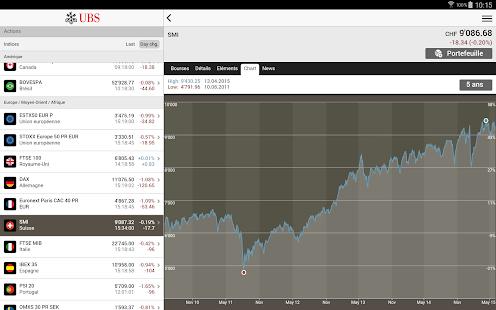 UBS Mobile Banking– Vignette de la capture d'écran
