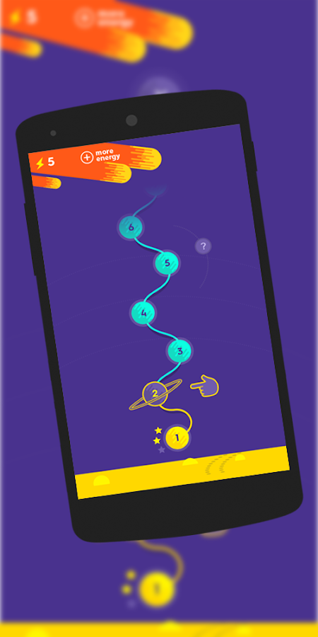 Playing numbers in space- screenshot