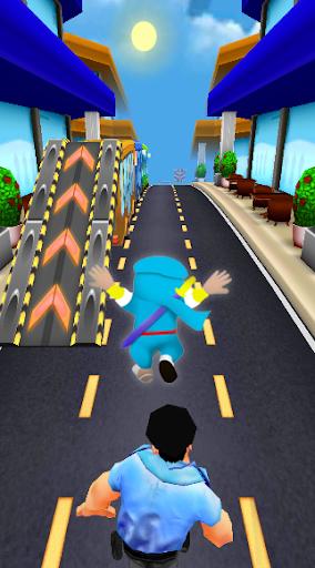 Subway Ninja Hattori Run screenshot 2