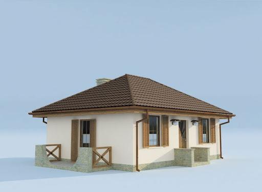 projekt Bayamo szkielet drewniany, dom letniskowy