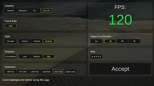 Battleground optimizer gfx 0.6 screenshots 1