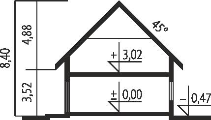 E2 ECONOMIC wersja A - Przekrój