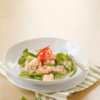 Spargelrisotto mit Shrimps