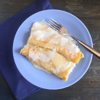 Crepe Cannelloni (cheese And White Sauce).