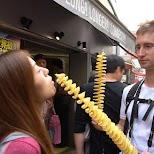 Long, Longer, Longest fried potato chips in Harajuku in Tokyo, Tokyo, Japan