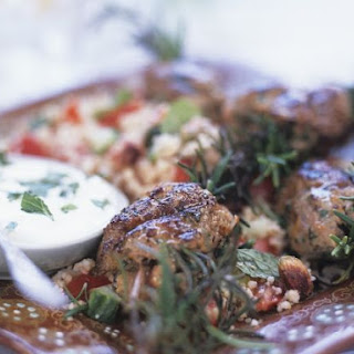 Grain Salad with Lamb Kebab