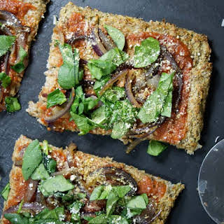 Vegan Cauliflower Pizza Crust.