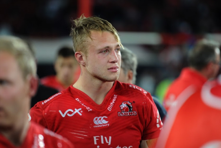 Ruan Ackermann after loosing to the Crusaders during the Super Rugby Final match between Emirates Lions and Crusaders at Emirates Airline Park on August 05, 2017 in Johannesburg.