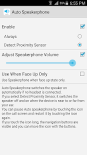 Auto Speakerphone Screenshot