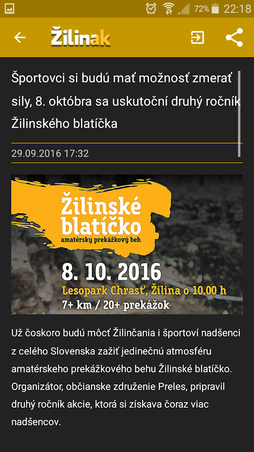 Žilinak- screenshot