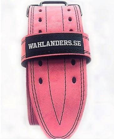 Wahlanders Bälte Mjuk rosa med svart söm - Large