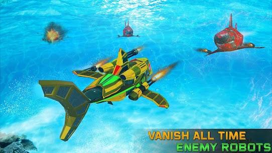 Angry Shark Robot Submarine Shooting Attack 2