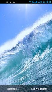 Vlny Živá Tapeta - náhled