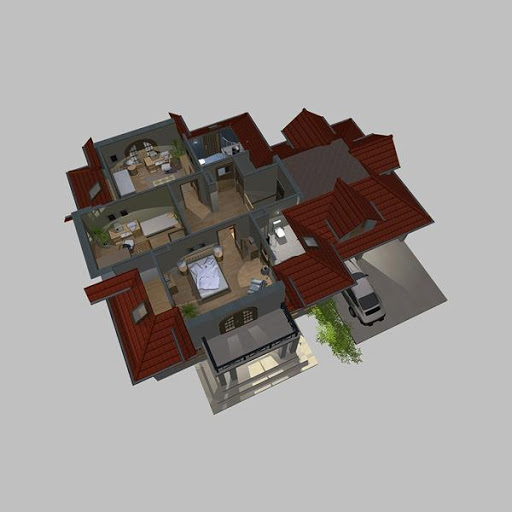 APS 119 - Rzut poddasza 3D