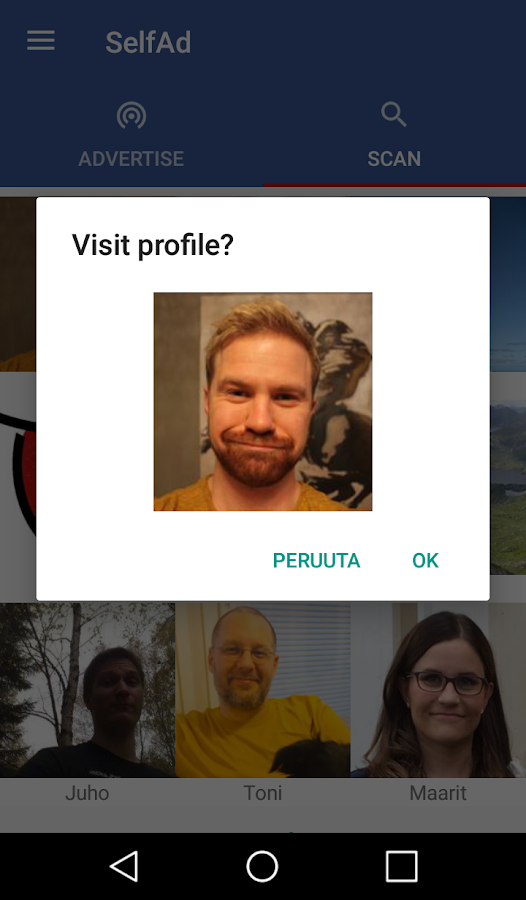 SelfAd - Advertise your profile picture wirelessly- screenshot