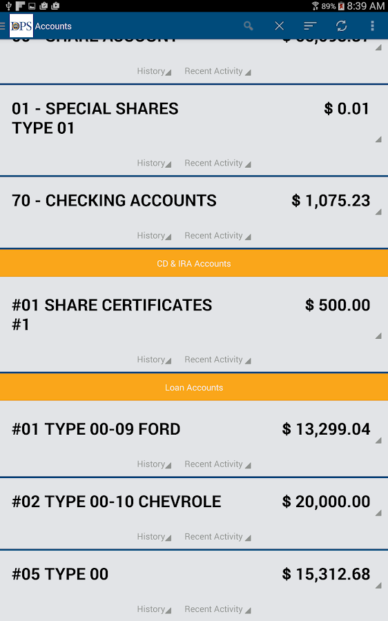 DPS FCU Mobile Banking- screenshot