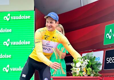 """Europees kampioen tijdrijden smeet zich helemaal en mag nu gele trui aantrekken: """"Ik had altijd de controle"""""""