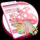 Pink Cute Mushroom Theme icon