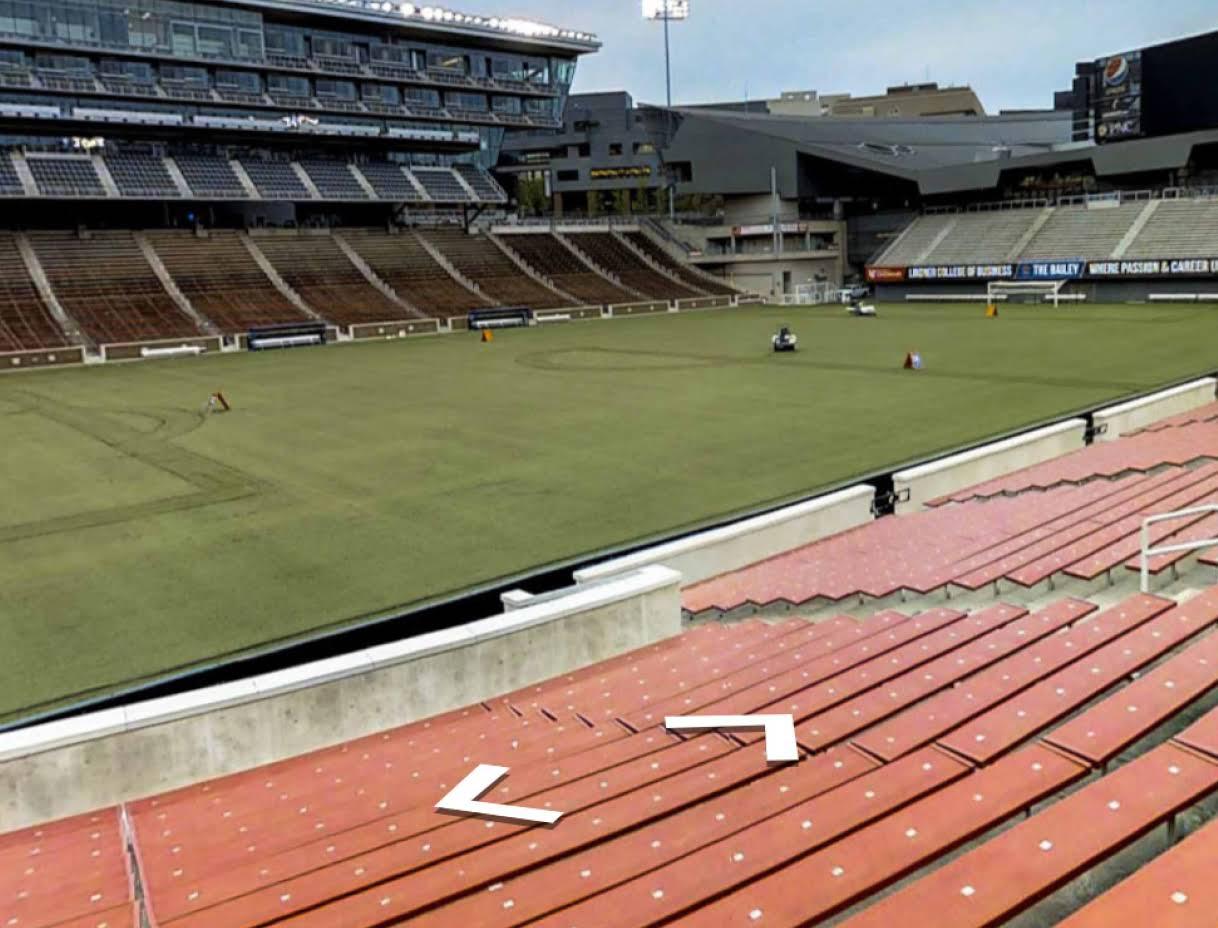 Street View inside a soccer stadium