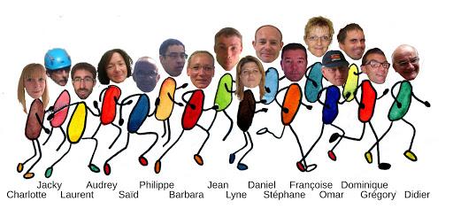 """Equipe coureurs APEI """"le charme"""" au profit du Projet de L'Arche à Strasbourg Marathon EuroDistrict 2015"""