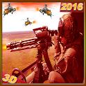 Commando Gunship Helicopter 3D icon