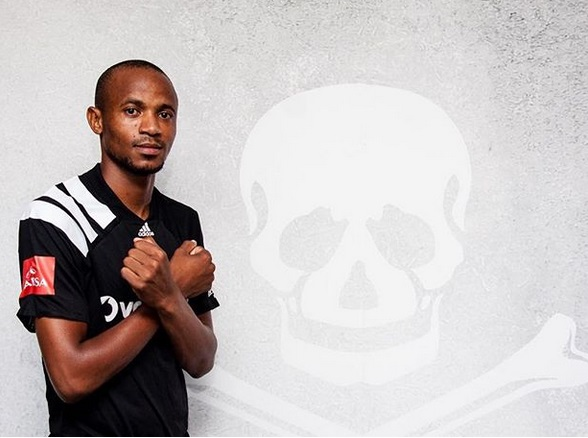 New Orlando Pirates midfielder Xola Mlambo.