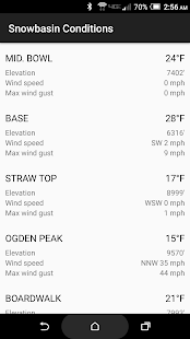 Snowbasin Conditions screenshot 1