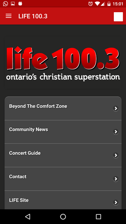 LIFE 100.3- screenshot