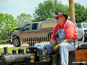 Photo: Clyde Brwon gets his steam pressure and water level up before departing.   HALS Public Run Day 2014-0419 RPW  12:49 PM