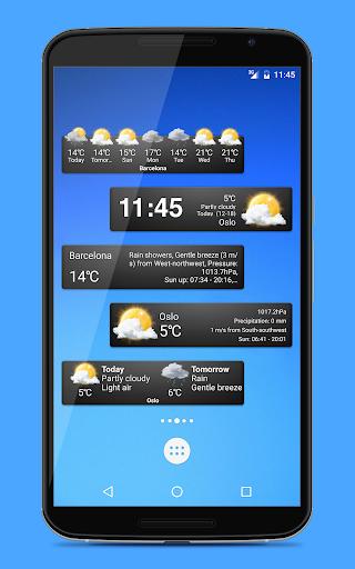 Weather widgets screenshot 1