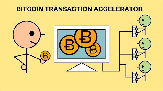 Bitcoin transaction accelerator - náhled