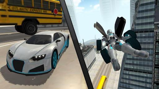 Flying Car Robot Flight Drive Simulator Game 2017 6 screenshots 7
