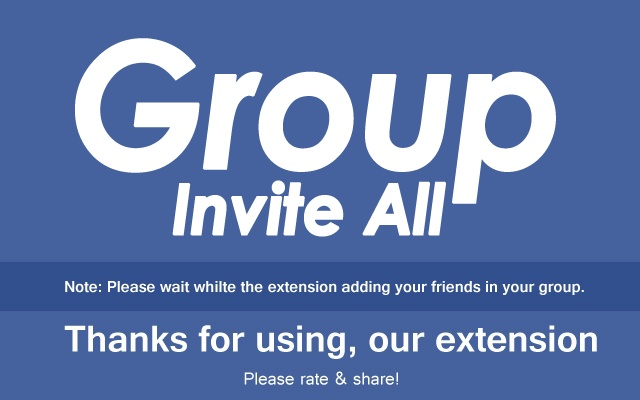 Group Invite All Chrome Web Store