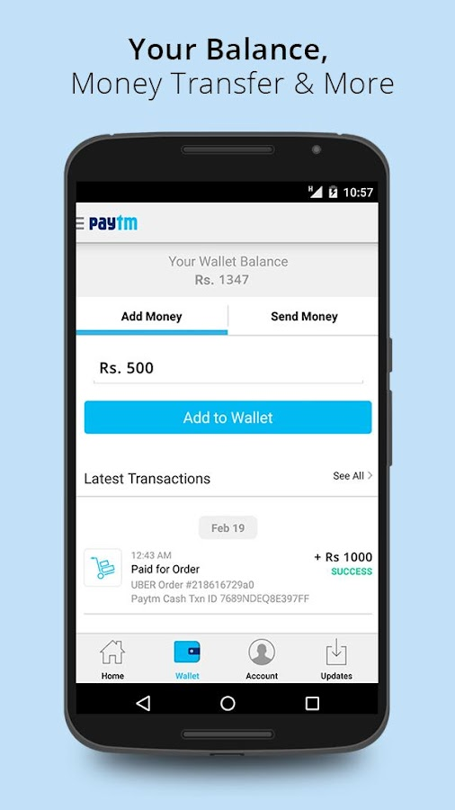 Recharge, Shop and Wallet - screenshot