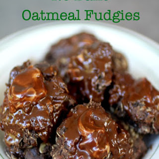 No Bake Oatmeal Fudgies Cookies