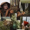 Hiking in the Woods - Photo Collage item