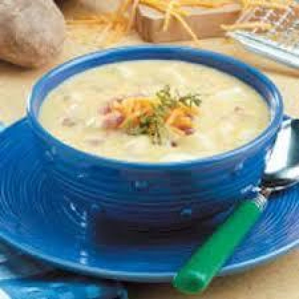 Cheddar Ham & Potato Soup Recipe